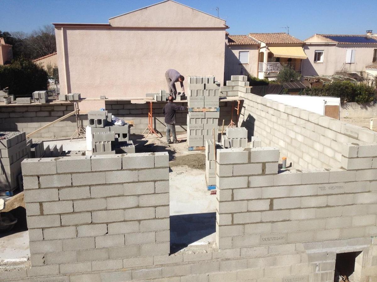 Elevation des murs/ charpente