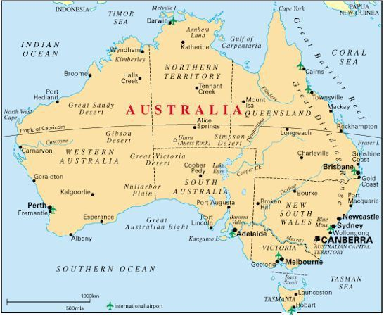My culture blog – Big Map of Australia