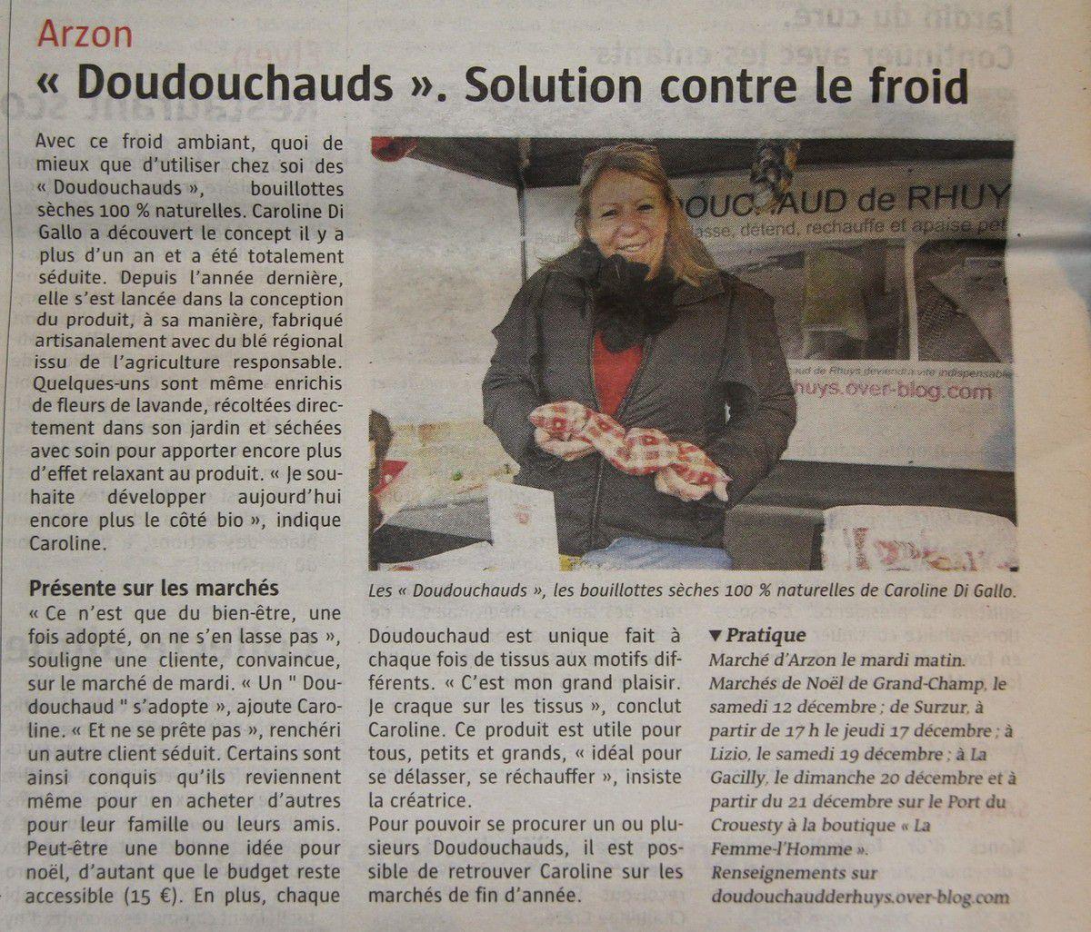 Merci à Ouest-France et au télégramme pour leurs articles qui ont fait connaître encore plus les doudouchauds