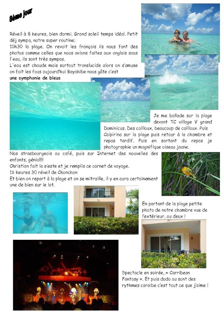 Repubique Dominicaine 2009, carnet de voyage