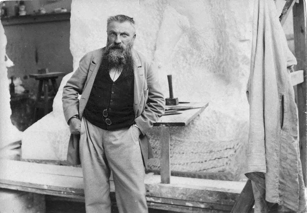 Rodin en 1898; photode Paul-François Arnold, WikipédiaCC, téléversé par Fma12.
