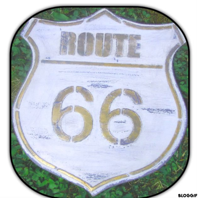 une plaque d co route 66 pour les passionn s de d co et des animatrices d 39 ateliers de. Black Bedroom Furniture Sets. Home Design Ideas