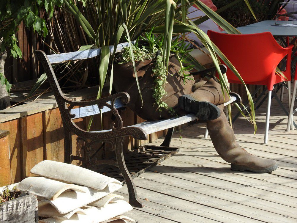 Etrange jardinière...