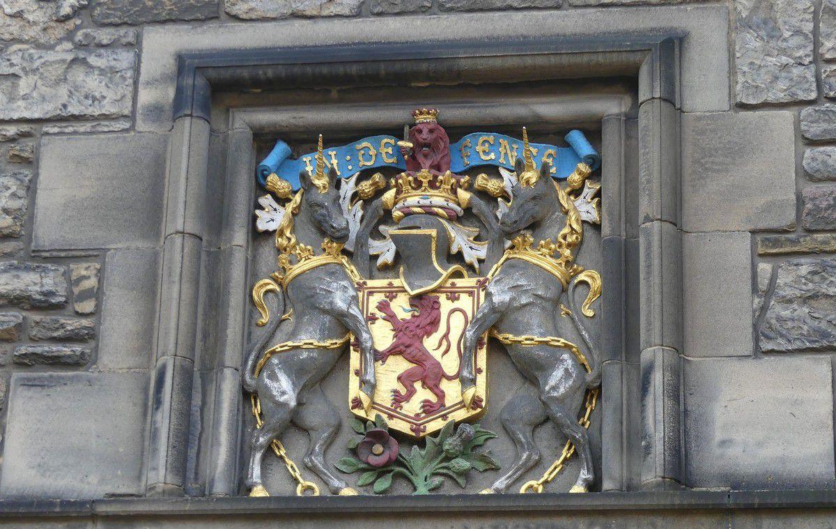 Le Château d'Edimbourg : l'intérieur...