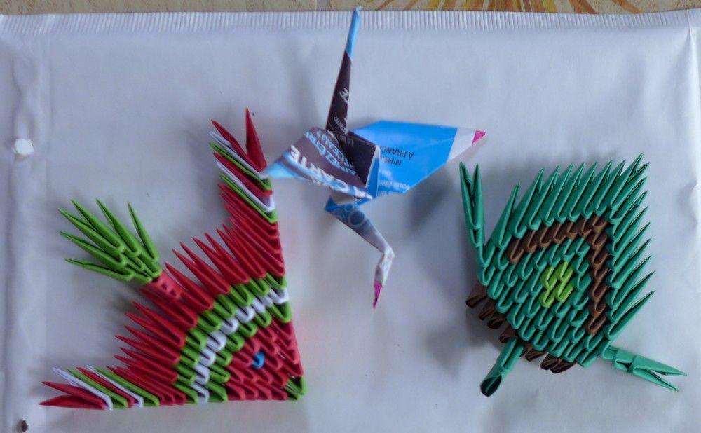 Les cadeaux en origami pour mon bloganni 2017...