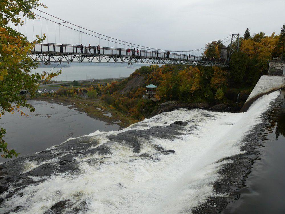 La Chute Montmorency au Québec...
