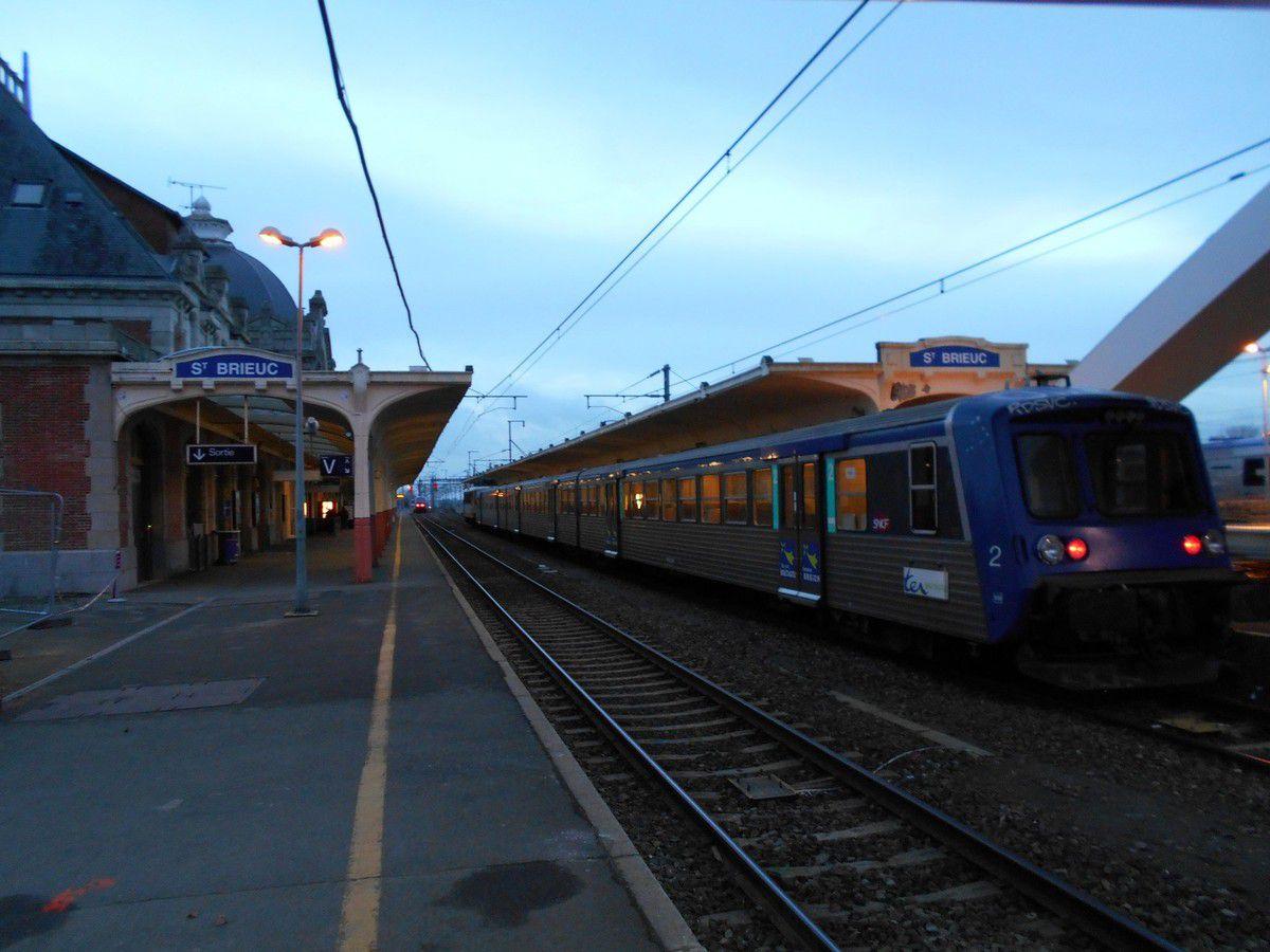 La nouvelle passerelle de la gare SNCF
