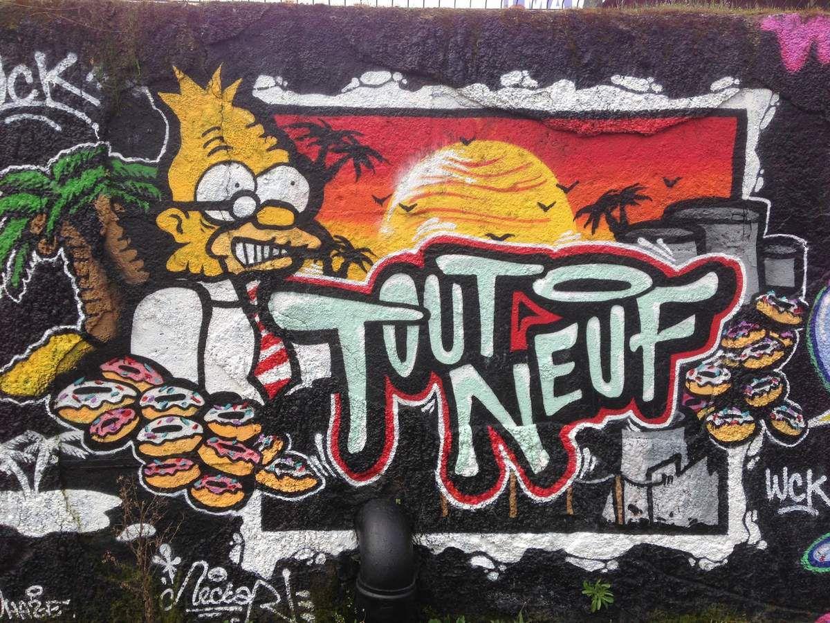 Street Art 22 : Le mur de graffitis