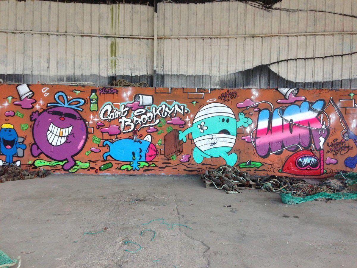 Graffitis au port et à Brézillet