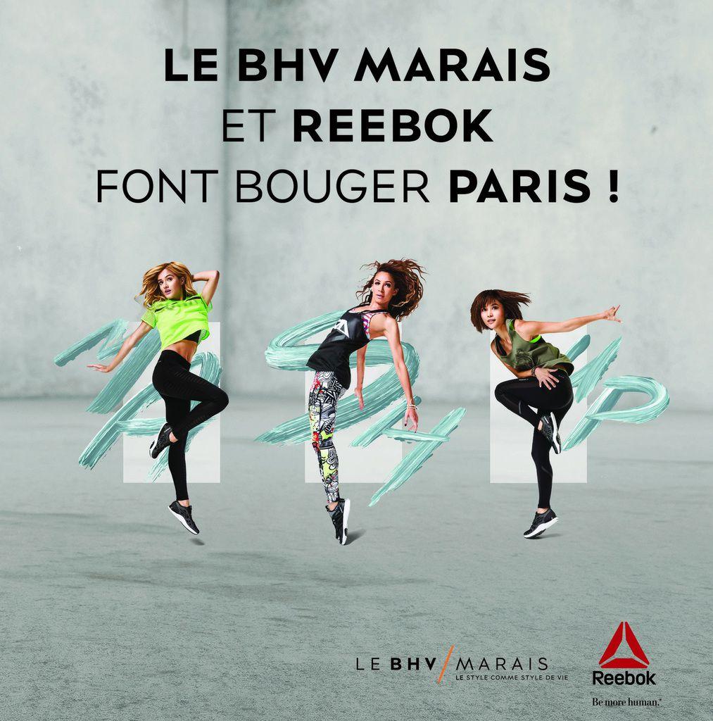 Le BHV Marais et Reebok font bouger Paris le 26 avril 2016