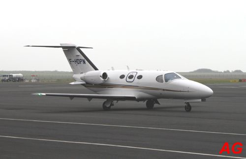 Le Cessna Citation Mustang F-HDPN.