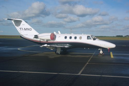 Le Cessna Citation T7-MND du registre de San Marin.