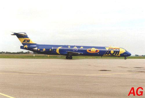 Le Douglas MD-83 F-GGMB de la Compagnie française AOM, le 30 septembre 1995.