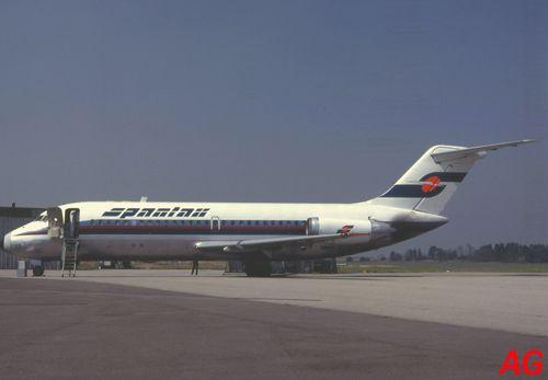 Le même avion avec les nouvelles couleurs de la compagnie, le 30 juillet 1983.