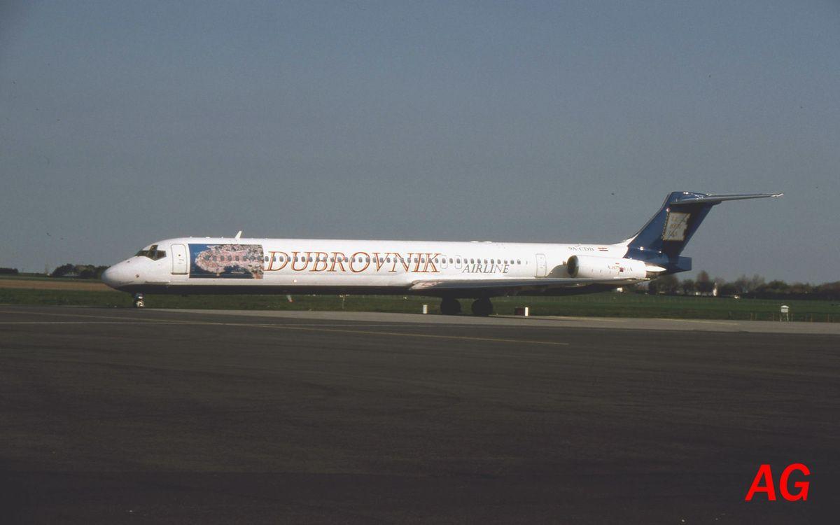 Le McDonnell Douglas MD-83 9A-CDB de la compagnie Dubrovnik Airlines, vu le 28 avril 2006.