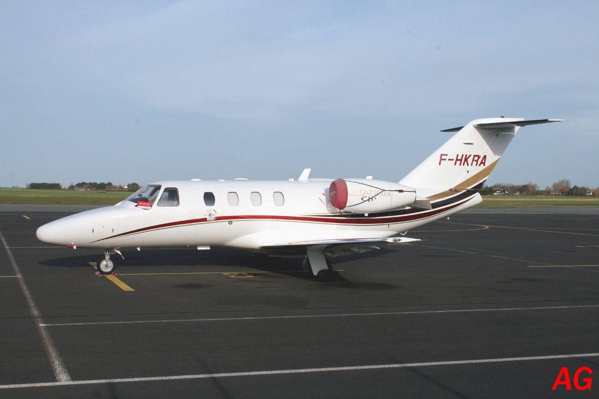 Le Cessna Citation CJ-1+ F-HKRA.