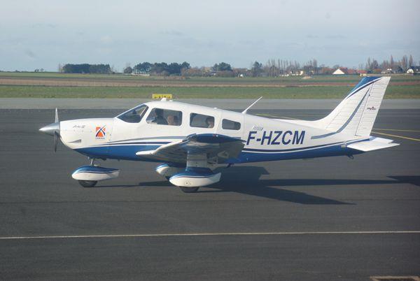 Le Piper PA-28 F-HZCM.