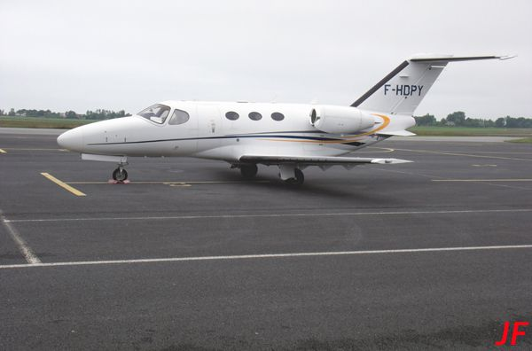 Le Cessna Citation Mustang F-HDPY.