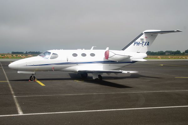 Le Cessna 510 Citation Mustang PH-TXA.