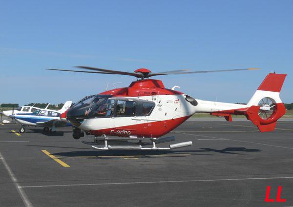 L'Eurocopter EC-135 F-GOPG du Secour Aérien Français (SAF).