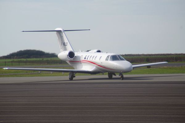 Le Cessna Citation CJ4 F-HGLO.