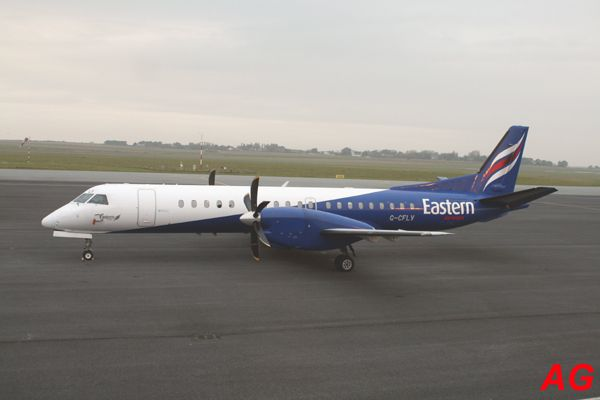 Le Saab 2000 G-CFLV de la compagnie anglaise Eastern Airlines.