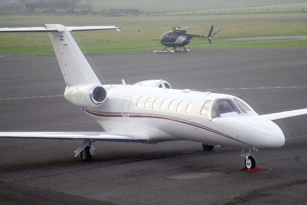 Le Cessna Citation CJ3 OE-GRA.