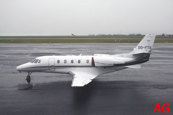 Le Cessna Citation Excel OO-FTS.