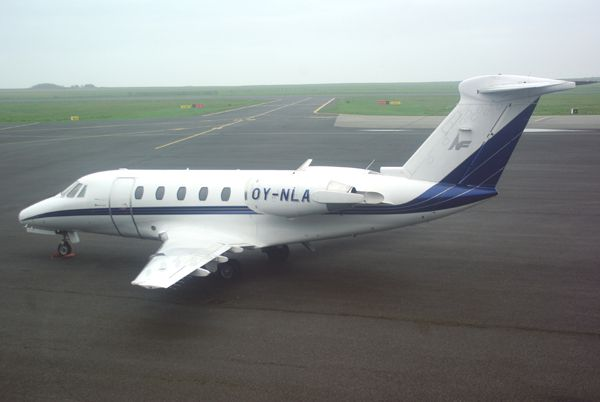 Le Cessna Citation Excel OY-NLA