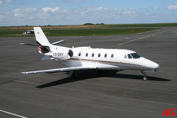 Le Cessna 560XL Citation Excel CS-DXY de la compagnie Netjet.