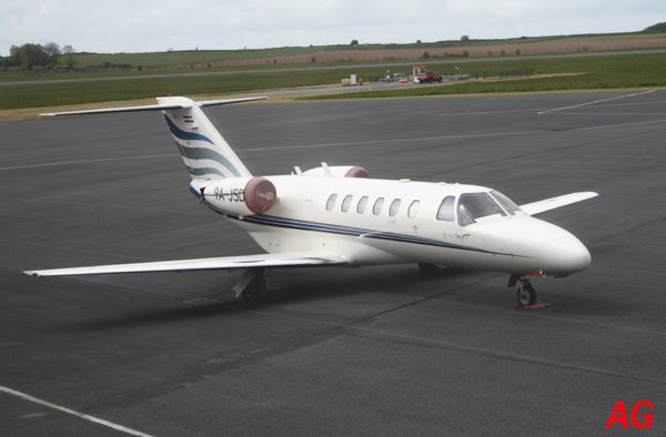 Le Cessna Citation CJ2 9A-JSD du registre croate.