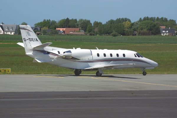 Le Cessna Citation Excel G-DEIA.