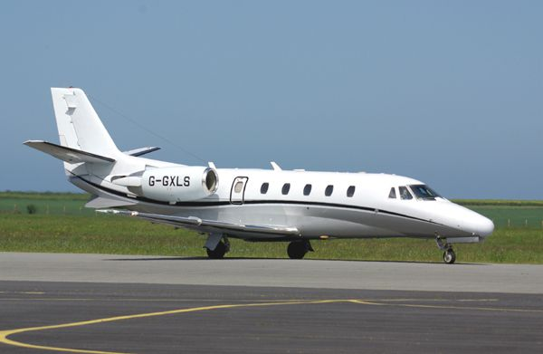 Le Cessna Citation Excel G-GXLS.