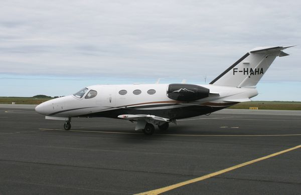 Le Cessna Citation Mustang F-HAHA. (Photo: Alain Gosset)