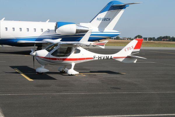 Le Flight Design CTLS F-HVMA. (Photo: Alain Gosset)