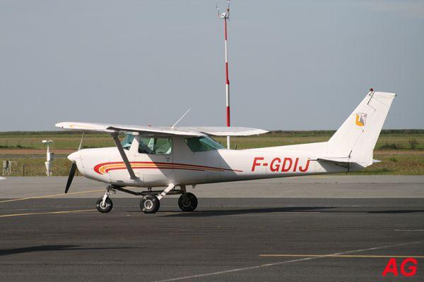 Le Cessna 152 F-GDIJ de l'Aéro-club Hispano Suiza.