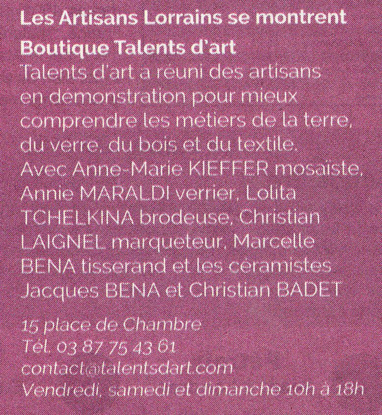 JEMA à Talents d' Art