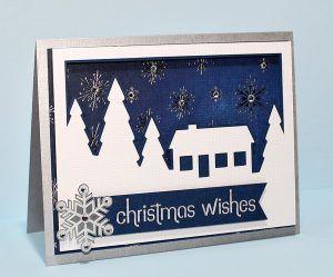 Fichier silhouette paysage enneigé de Noël