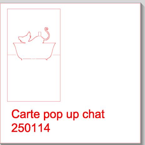 Kirigami chat dans son bain fichier silhouette gratuit