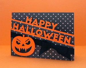 Carte Happy Halloween sentiment
