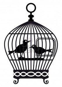 Cage à oiseaux fichier silhouette