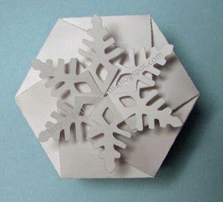 Boite flocon de neige fichier sst silhouette studio gratuit