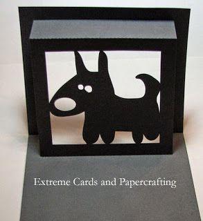 Kirigami chien silhouette studio gratuit