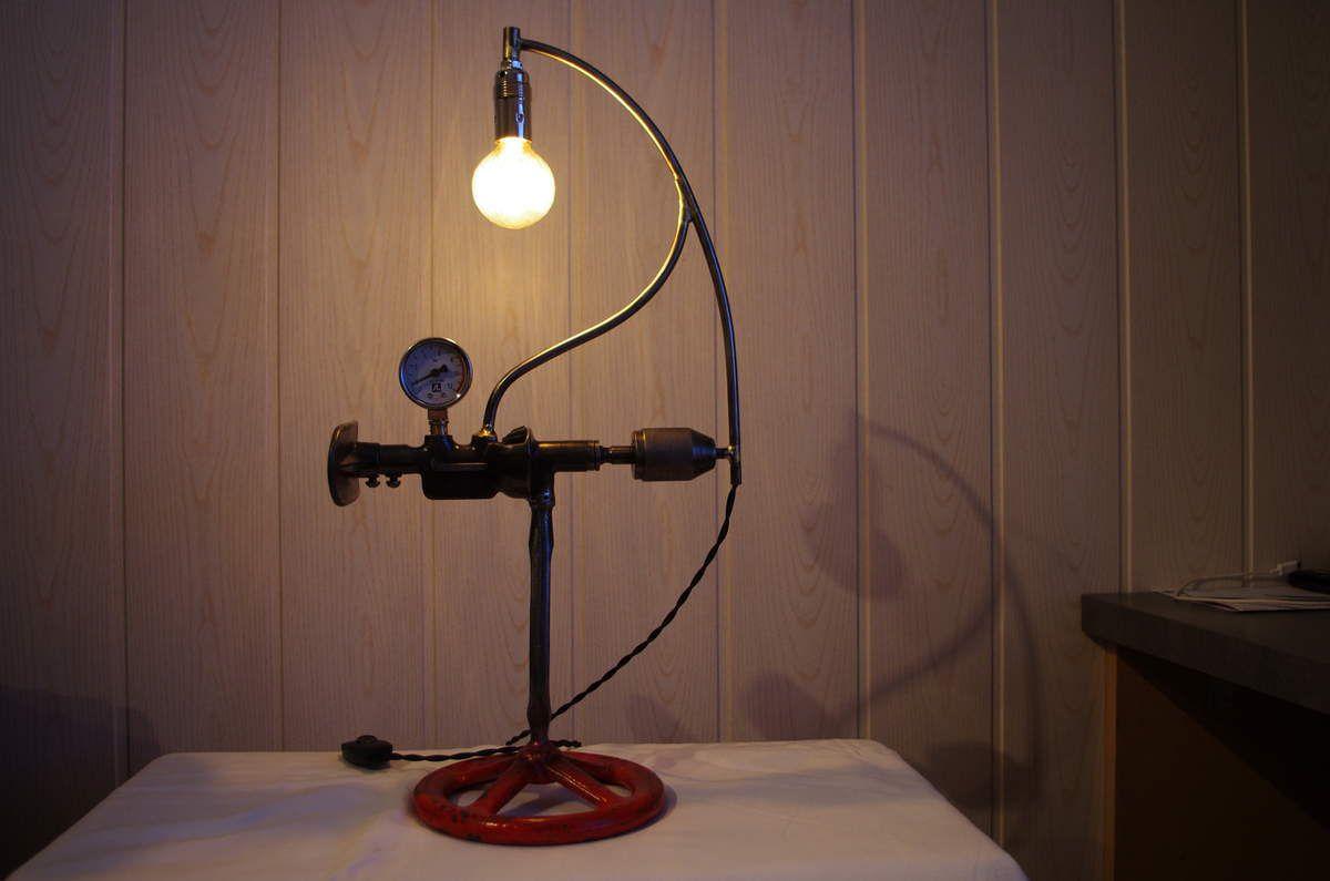 Lampe industrielle vintage art et brocante - Lampe industrielle ...