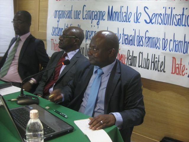 Campagne mondial de sensibilisation dans le secteur hôtelier - Palm Club Hôtel de Cocody (Abidjan) ce jour 29 octobre 2015.