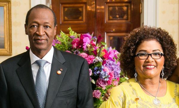 Blaise Compaoré et son épouse Chantal Compaoré