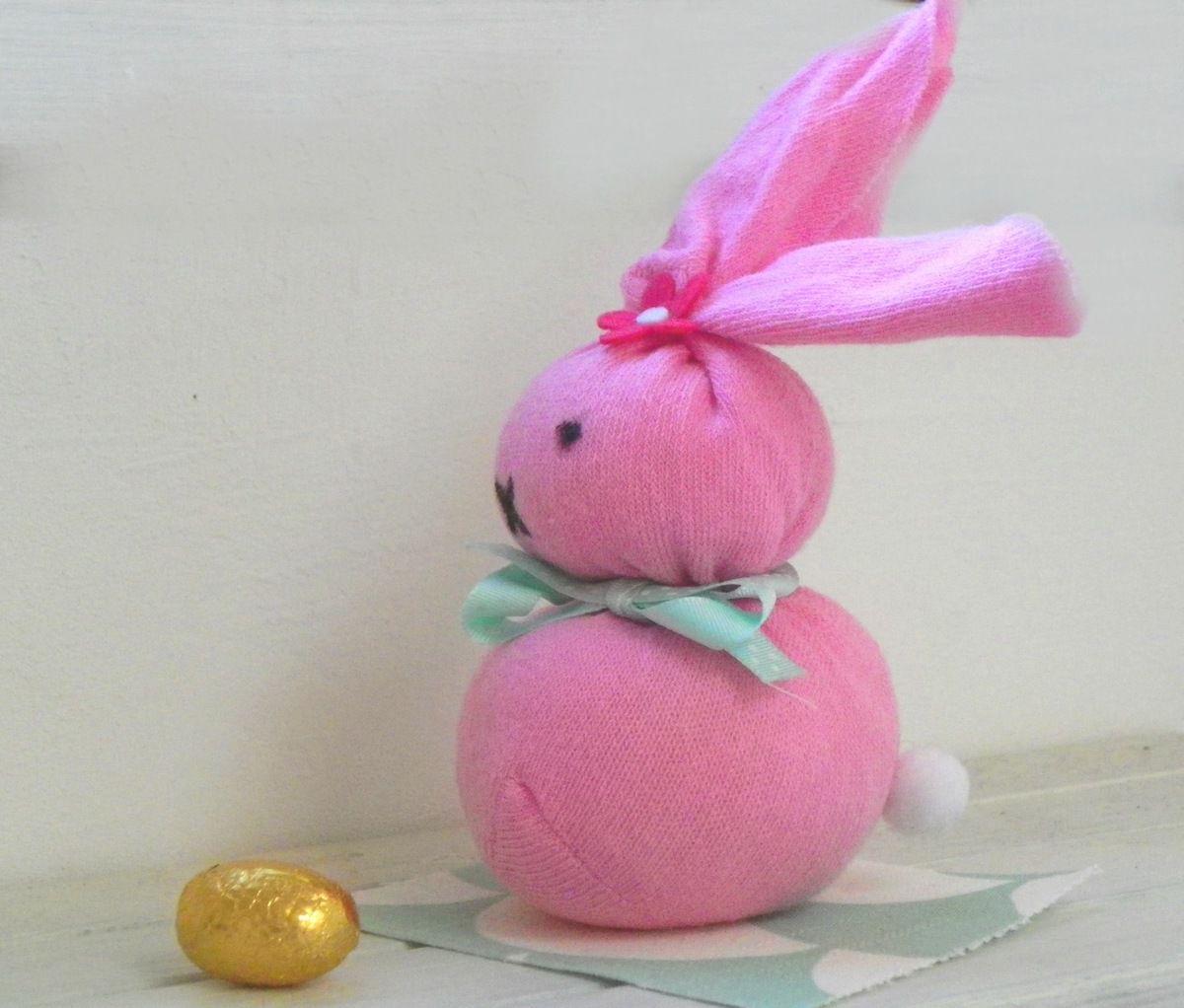 Lapin de Pâques (tuto avec une chaussette)