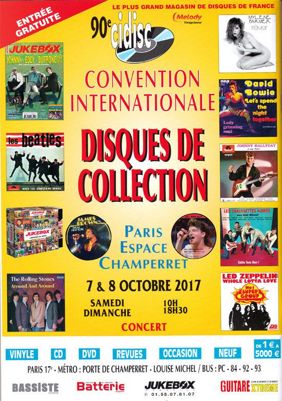 Convention Internationale du disque le 7 &amp&#x3B; 8 Octobre 2017