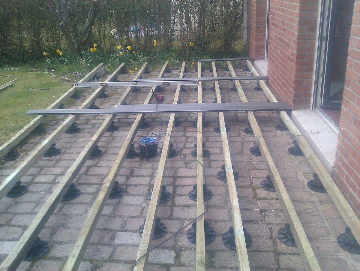 Pose D 39 Une Terrasse En Composite Fonc Travaux Autodidacte