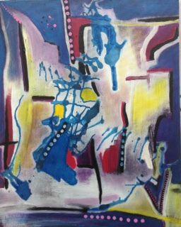 rêverie (acrylique sur toile)